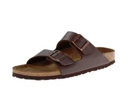 Birkenstock Arizona Unisex Leather Sandal brown size 7 - $113.98
