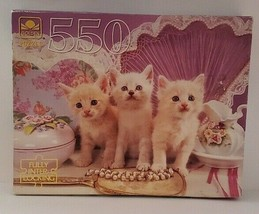 """Golden Blue-Eyed Beauties 500 Piece Jigsaw Puzzle 18"""" x 14"""" Age 10 to Ad... - $16.82"""