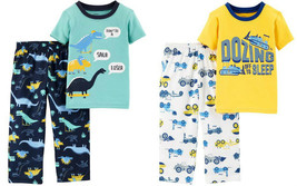 NWT Carters Construction Dinosaur Boys Short Sleeve Pajamas Set 18 24 M - $9.99