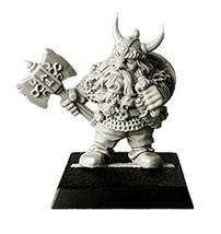 Spellcrow Game Miniatures Northern Dwarf with Axe and Horned Helmet
