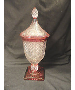 Westmoreland English Hobnail Urn Ruby Stain with Lid Candy Dish - $99.99