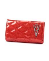 Lux de Ville V8 Hot Rod Venom Red Sparkle Rockabilly Clutch Wallet HRW17... - $51.99