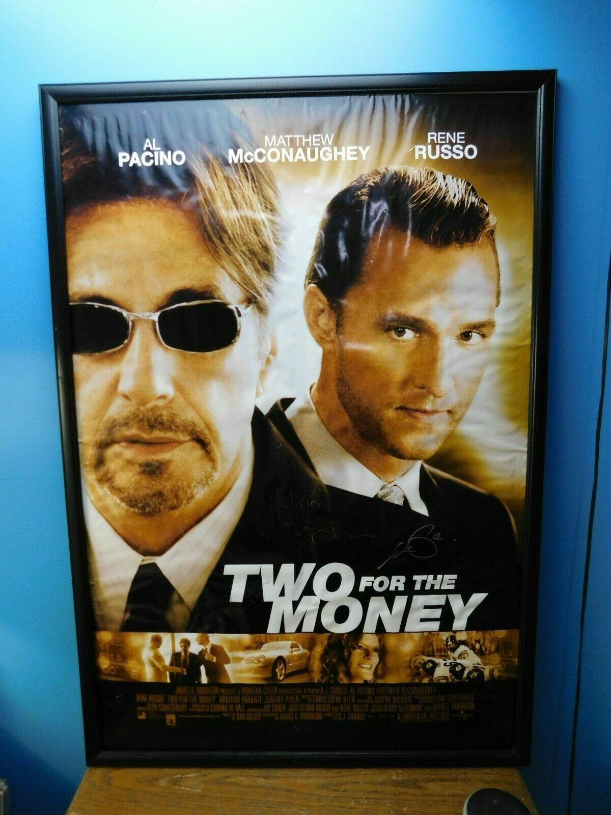 Primary image for Two For The Money Autographed Signed  Movie Poster Pacino McCONAUGHEY Russo