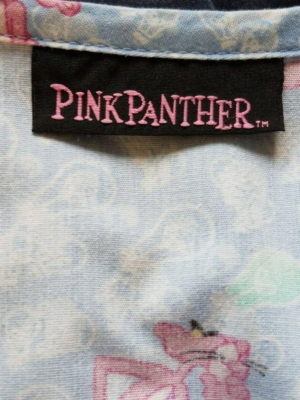 Pink Panther Medical Scrubs Light Blue V Neck Size XL