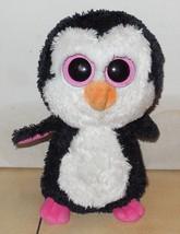 "Ty Beanie Boos Paddles Penguin Plush Bird 6"" Stuffed Animal Pink Big Eye... - $9.50"