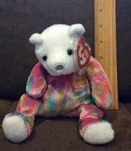 April Birthday Ty Beanie Baby, New, MWMT, 2001, Multi-Colored Bear - $2.99
