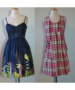 NWT Dress Lot Mini Plaid Abstract Floral Print Baby Doll 2 Dresses - $39.00