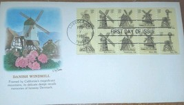 First Day Cover 1980 Danish Windmill First Day Cover - $1.34