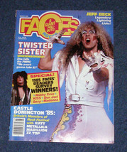 Twisted Sister ratt jeff beck metallica faces mag march 1986 - $15.99
