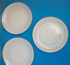"Royal Doulton DEBUT England Bone China Bread Plates 6.25"" Lot of 3 Blue ... - $31.50"