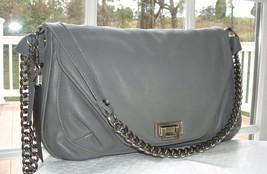 TYLIE MALIBU Grey Leather Jetset Cross Body Bag NWT $534. - $270.00