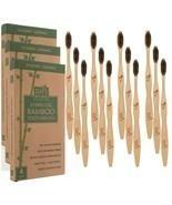 12 Brushes (Three-4 packs) - Bamboo Charcoal Toothbrushes - Biodegradabl... - $11.49