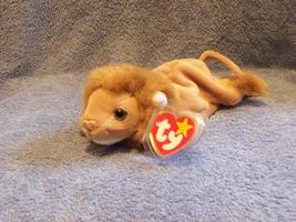 Roary The Lion Ty Beanie Baby Retired 1998 - $5.00