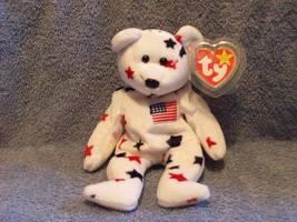 Glory The American USA Bear Ty Beanie Baby Retired 1998 - $5.00