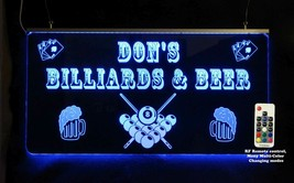 Personalized Pool Table Man cave sign, Custom Lighted sign - $94.05+
