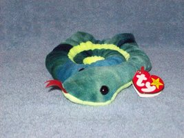 Ty Beanie baby plush Hissy the Snake - $5.00