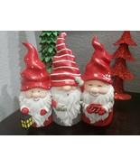"CHRISTMAS HOLIDAY RED GNOME TRIO TABLETOP HOME DECOR RESIN 10.25"" - $44.99"