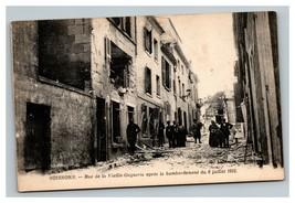 Vintage 1915 Photo Postcard WW1 Bombing Damage Soissons France - $22.74