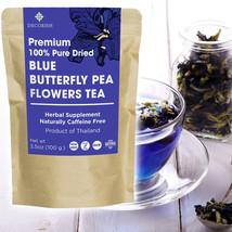 PREMIUM Blue Dried Butterfly Pea Flower Tea Organic 100g Pure No Caffein... - $9.48