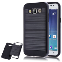 Hybrid Armor Dual Layer Protective Case for Samsung Galaxy J7 / J700 - B... - $4.99