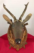 Antique 1900 Black Forest Hand Carved Wood German hunting deco design bauhaus image 5