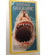 Scary Movie National Geographic SHARKS JAWS Documentary Vintage VHS Video - $14.99