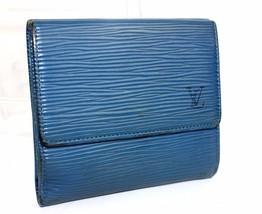 Auth Louis Vuitton Epi Leather Toledu Blue Bifold Wallet France SP0986 - $114.05