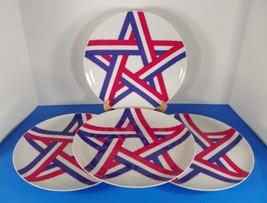 Sigma Taste Setter CELEBRATION Dinner Plate (s) LOT OF 4 Red White Blue ... - $39.55