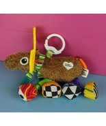 """Lamaze Plush Moose Baby Toy Stuffed Animal 9"""" Crinkles Hangs Squeaks Tee... - $4.46"""