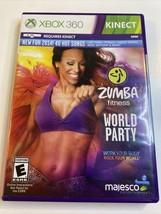 Zumba Fitness World Party (Microsoft Xbox 360, 2013) Sealed New - $11.48