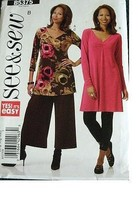 Misses Tunic, Dress & Pants Size 16-18-20-22-24-26 Very Easy See & Sew By Butter - $17.63