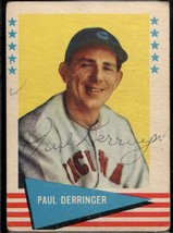 Paul Derringer (d. 1987) Signed Autographed 1961 Fleer Greats Baseball C... - $59.99