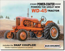 Allis Chalmers WD45 Farming Tractor Farm Equipment Metal Sign - $19.95