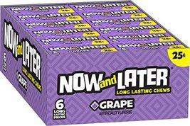 Now & Later Original Taffy Chews Candy, Grape, 6 count, 0.93 Ounce Bar, ... - $12.50