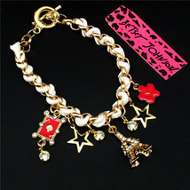 BETSEY JOHNSON CHARMING BRACELET  ****   # 8698  COMBINED SHIPPING ALWAYS - $12.75
