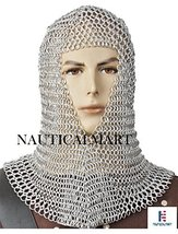 NauticalMart Medieval Aluminum Chainmail Coif Butted Wire Larp Movie Renaissance - $90.00