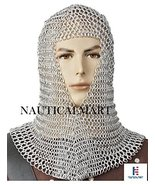 NauticalMart Medieval Aluminum Chainmail Coif Butted Wire Larp Movie Ren... - $90.00
