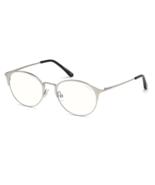 TOM FORD TF5541-B 016 Men's Palladium Round Blue Block Eyeglasses FT5541B NEW 51 - $133.60