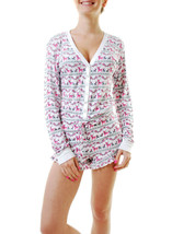 Intimates By Wildfox Womens Reindeer Pyjama Top White M - $57.81