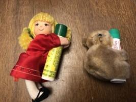 Avon Little Rag Doll with Sweet Honesty Demistick Koala Clip Plush Lot - $9.85