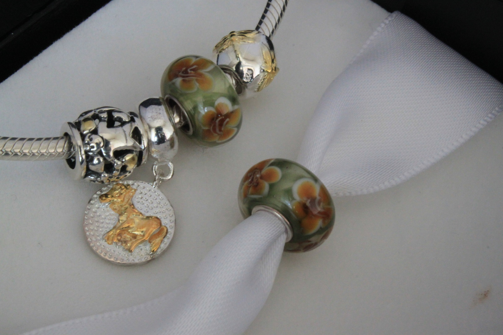 110e2bed61f8c Sterling Silver 925, Lampwork Glass Charm and 50 similar items