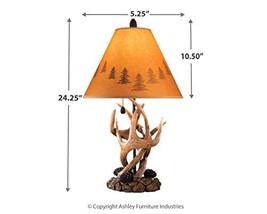 Signature Design by Ashley - Derek Antler Table Lamp - Mountain Style Sh... - $90.99