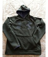 Under Armour Hoodie Boys Size Large Hunter Green EUC - $19.50