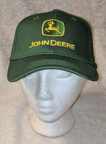 John Deere LP16930 Green Adjustable BaseBall Cap With Leaping Deer Logo