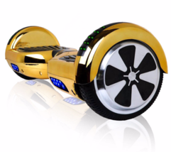 Chrome Gold Chrome Bluetooth Hoverboard LED Two Wheel Balance Scooter UL... - $249.00