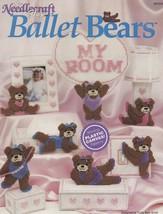 Ballet Bears, Plastic Canvas Pattern Booklet TNS 903303 Lamp Music Box &... - $2.95