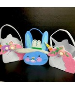 3 PC Felt Easter Basket White Blue Unicorn Spritz NWT - $18.99