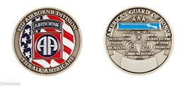 ARMY 82ND AIRBORNE THE ALL AMERICANS GUARD OF HONOR MILITARY CHALLENGE COIN - $17.14