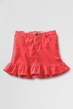 New Lands End Girls Size 12 Orange Skort Skirt With Shorts Ruffled Hem Very Cute - $7.84