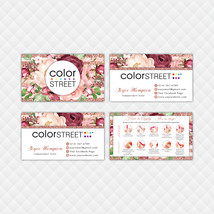 Color Street Application Cards, Color Street Business Cards, Digital Fil... - $9.00+